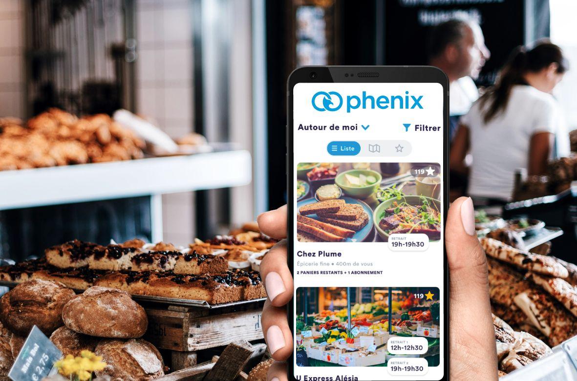 Diverses applications permettent de bénéficier d'invendus, dont Phenix, avec qui nous démarrons un partenariat pour vous permettre de consommer de façon responsable !