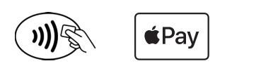 Symboles indiquant que vous pouvez payer en pass restaurant avec apple pay dans les commerces éligibles